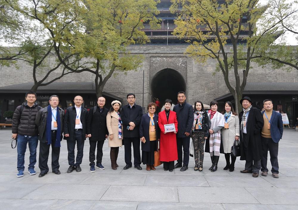 中���A�S���H文化交流基地揭牌�x式在西安城��景�^�e行